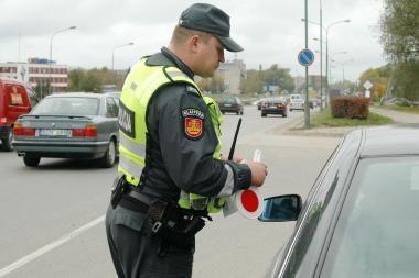 Vilniuje savaitgalį sučiupti 26 neblaivūs vairuotojai