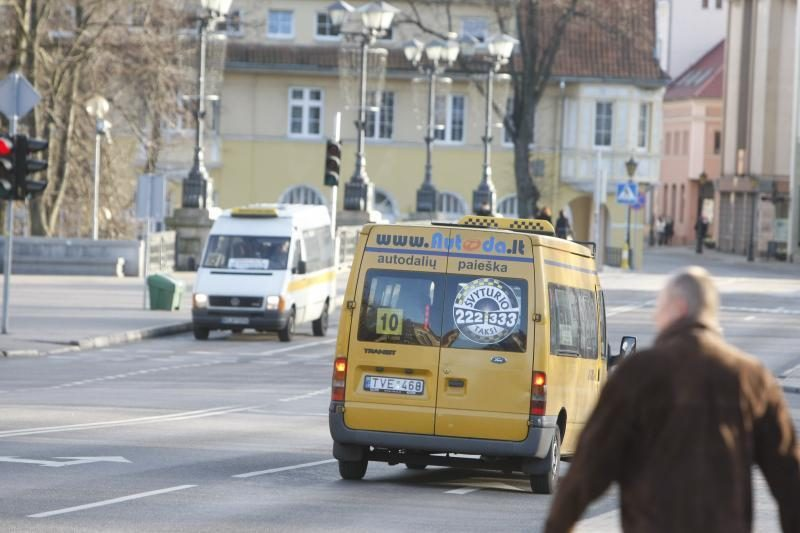 Nuo liepos 1-osios Vilniaus centre nebevažinės mikroautobusai
