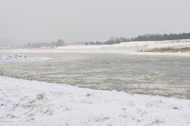 Dėl ledų sangrūdos Nemunas ties Panemune gali išsilieti iš krantų