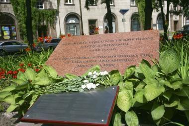 Už Baltijos šalių aneksijos nepripažinimą - paminklinė lenta