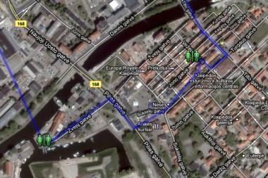 Kur Klaipėdoje yra viešųjų tualetų? (žemėlapis)