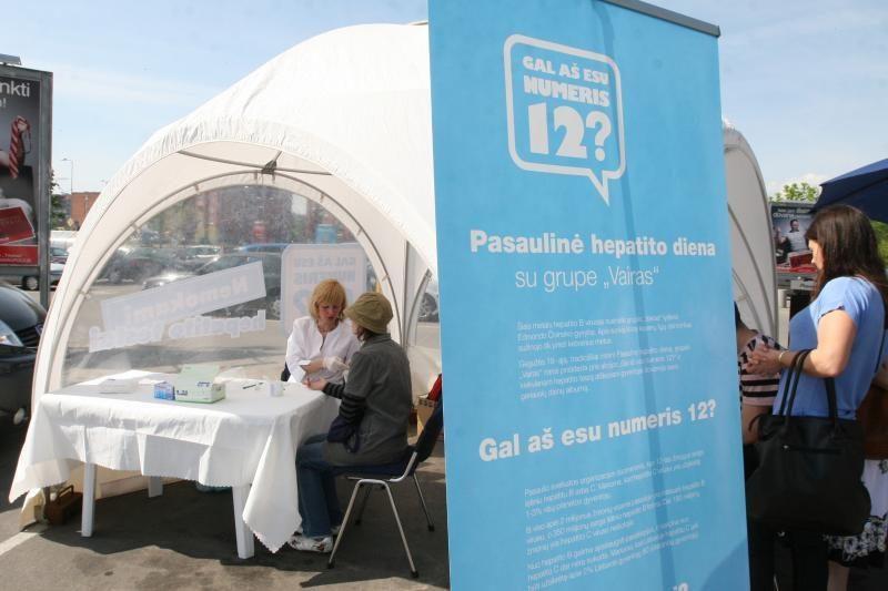 Pasaulinę hepatito dieną Palangoje - akcija