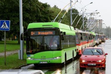 Važiuoti autobusais ir troleibusais kainuos brangiau