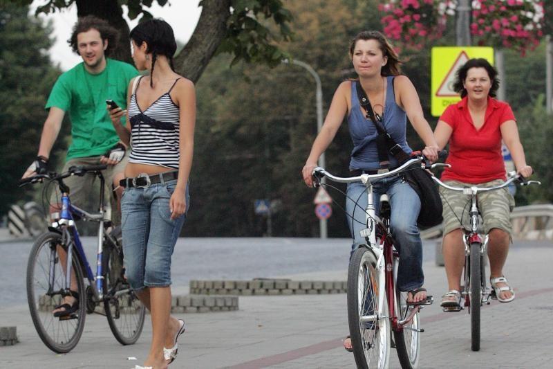 """Palangoje - dviratininkų šventė """"Pavyk pajūrio vėją"""""""