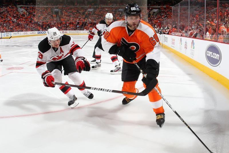 """Devils"" suklupo prieš ""Flyers"", D.Zubrus nepasižymėjo"
