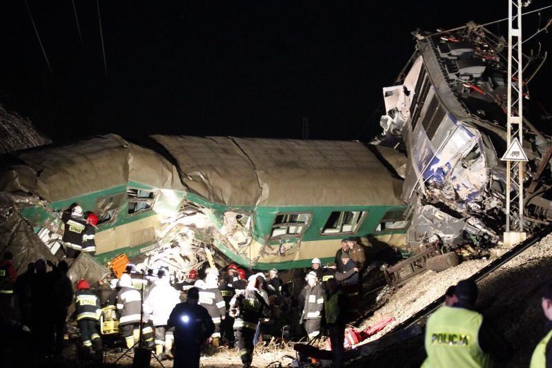 Lenkijoje susidūrus traukiniams žuvo 16 žmonių (atnaujinta 15:25 val.)