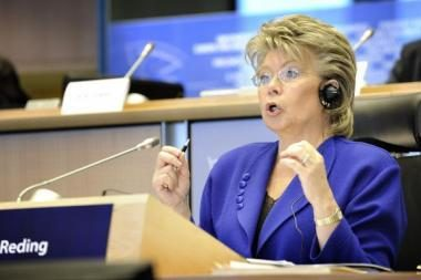 Lietuvoje lankosi teisingumo eurokomisarė V.Reding