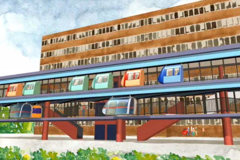"""""""JPod PRT"""": automatinis miesto transportas"""