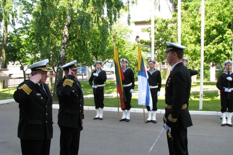 Klaipėdoje lankosi Lenkijos karinių jūrų pajėgų vadas
