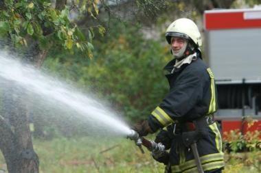 Organines atliekas ugniagesiai gesina jau savaitę