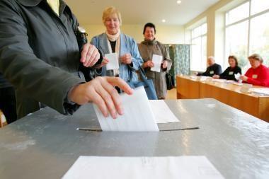 Nuo 12 val. prasideda išankstinis balsavimas