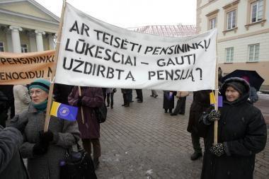 Pensininkai Vilniuje prašė Prezidentės užtarimo
