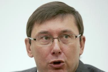 Ukrainos prokuratūra iškėlė baudžiamąją bylą buvusiam VRM vadovui Lucenkai