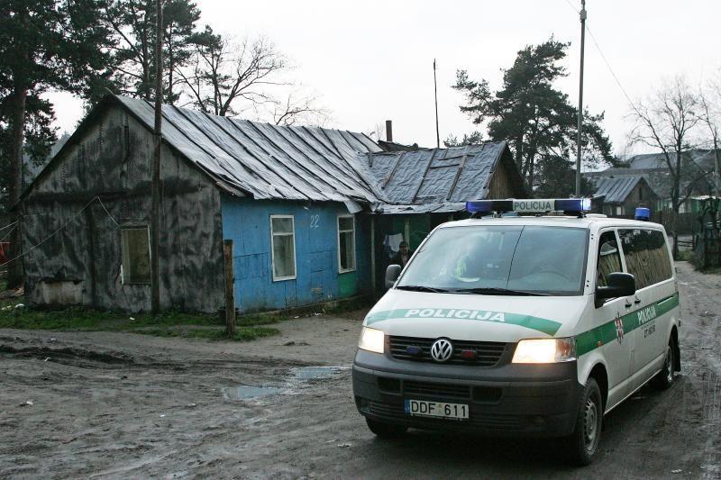 Čigonų tabore Vilniuje policija aptiko narkotikų