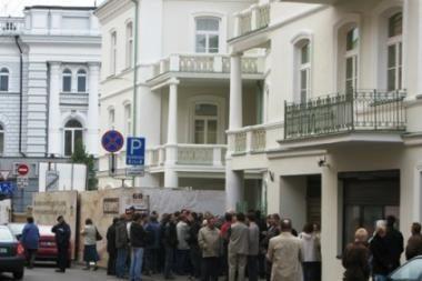 Visuomenininkai piketuos prie Lietuvos banko