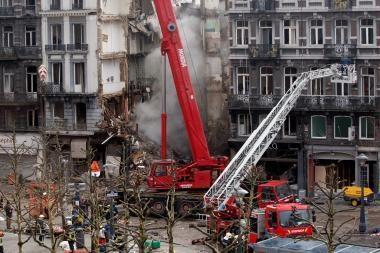 Belgija: tikslus aukų skaičius sugriuvusiame pastate - neaiškus