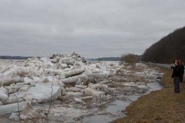 Panevėžio rajone sprogdintos ledų sangrūdos