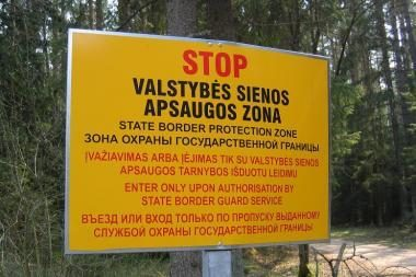 Būti sienos apsaugos zonoje be leidimų – draudžiama
