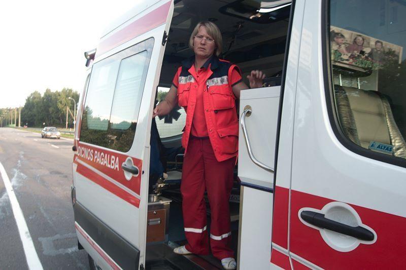 Po avarijos Vilniaus centre vairuotoja išvežta į ligoninę