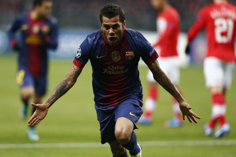 """D. Alvesas:  pagrindinis mūsų konkurentas ne """"Real"""", o """"Atletico"""""""
