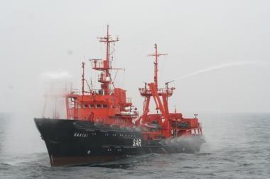 """Laivas """"Šakiai"""" dalyvauja trišalėse pratybose Baltijos jūroje"""