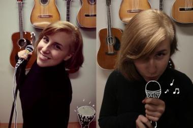 """""""Akustinėse spalvose"""" – dvi dainuojančios merginos"""