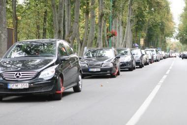 Rinkliava Palangoje: už gatvėje paliktą mašiną - 72 litai per parą