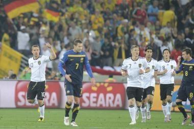 D grupė: įspūdinga vokiečių pergalė prieš australus
