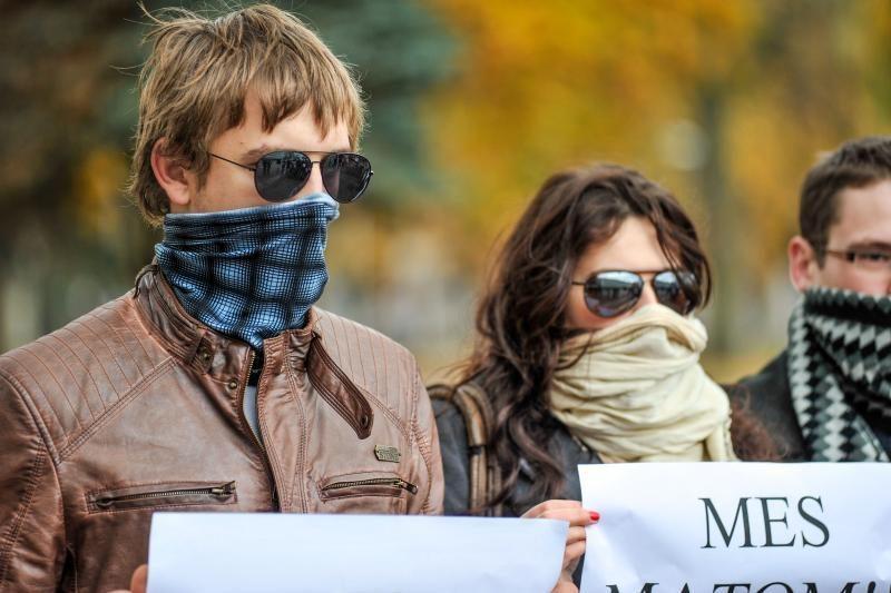 Po Seimo langais – protesto akcija prieš skalūnų dujų gavybą Lietuvoje