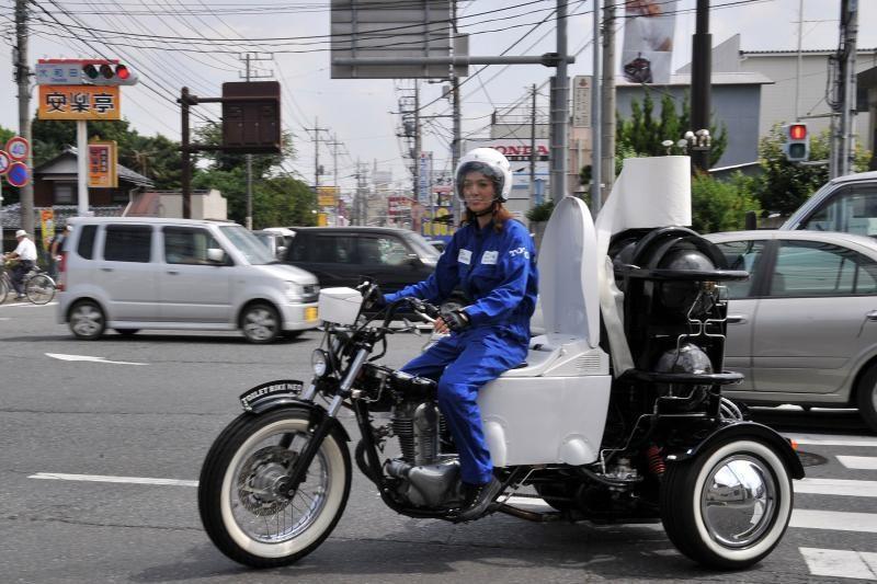 """Japonijoje pristatytas """"atliekomis varomas"""" motociklas"""