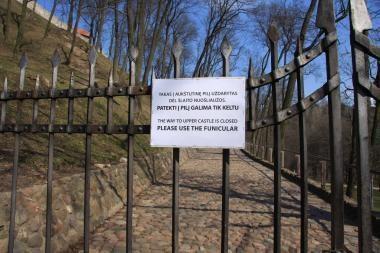 Kelias į Gedimino pilį kol kas laisvas