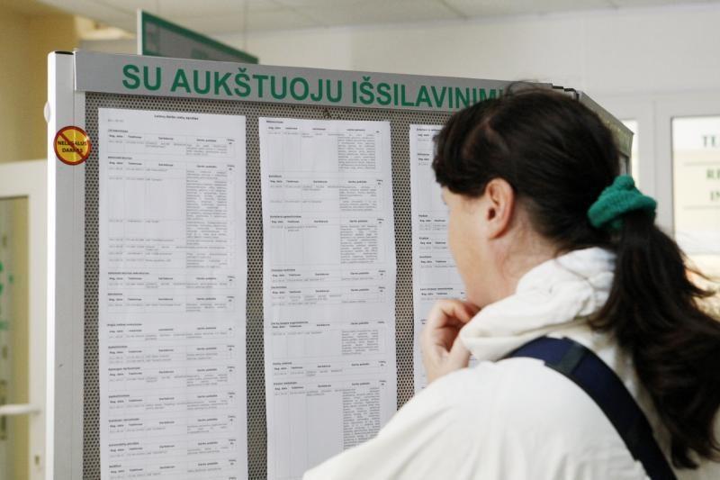 Per savaitę bedarbių sumažėjo tik keliais šimtais