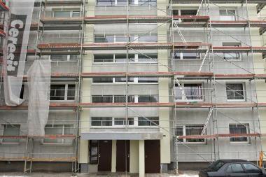 Reikalaujama ilginti garantiją renovacijos darbams