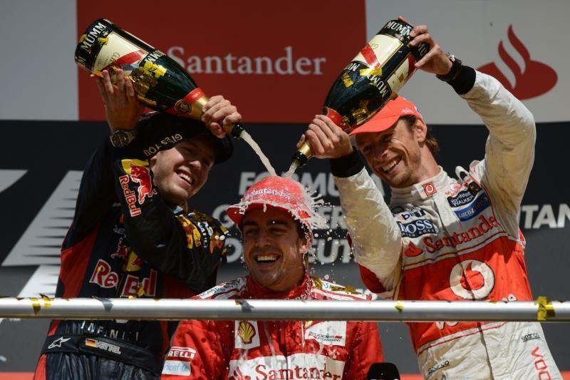 """F.Alonso laimėjo """"Formulės 1"""" dešimtojo etapo lenktynes Vokietijoje"""
