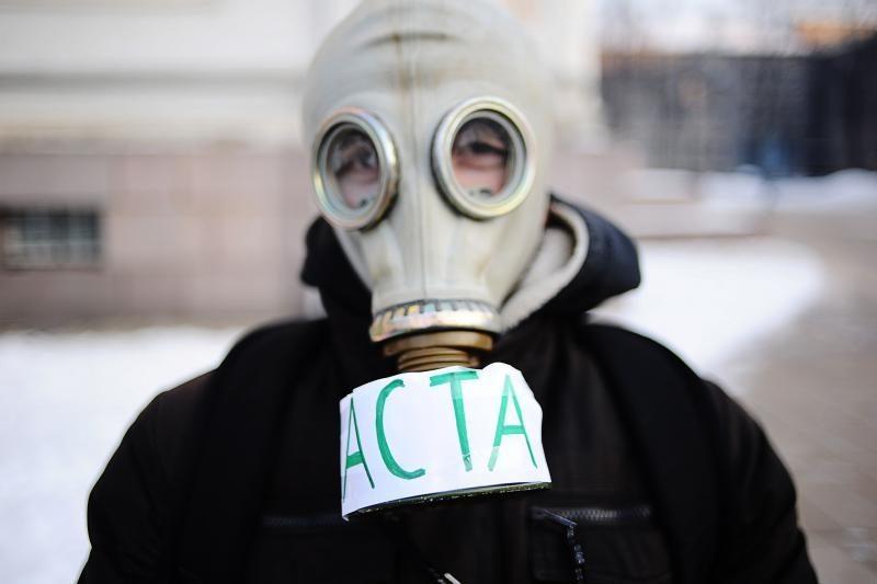 Kaune vyko protestas prieš ACTA susitarimą