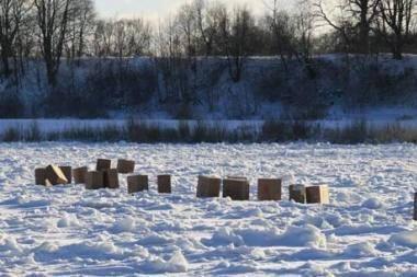Rusiškų cigarečių gabentojai rinkosi ledo kelią