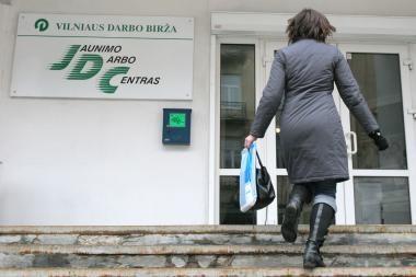 Nedarbas didžiuosiuose miestuose - 11-15 proc.