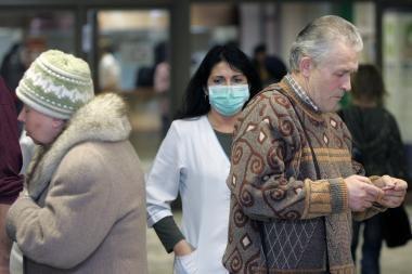 Sergamumas gripu išaugo beveik dešimt kartų (papildyta)