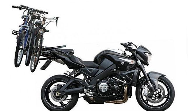 Pagaliau: jau sukurtas dviračių laikiklis motociklams