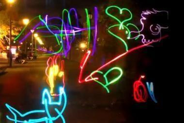Dinamiška šviesos grafiti