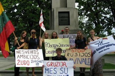 Kaunas ir toliau nelieka abejingas Gruzijai