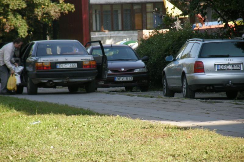 Automobiliai keliasi į uostamiesčio parkus