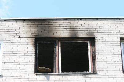 Per gaisrus nukentėjo žmogus
