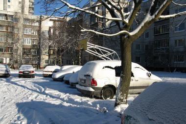 Sniegas gali būti vežamas į Gariūnus