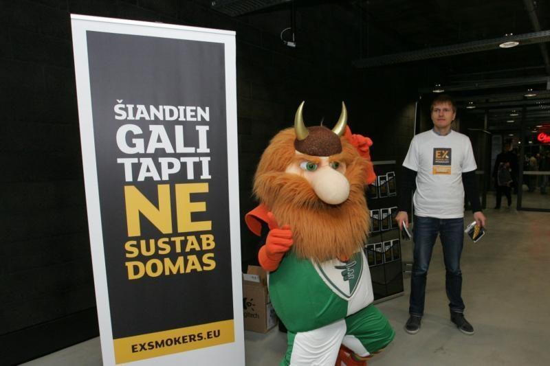 """Kauno """"Žalgiris"""" prisidėjo prie nerūkymo kampanijos"""