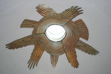 Tuskulėnų kolumbariume suspindo auksu žėrinti mozaika