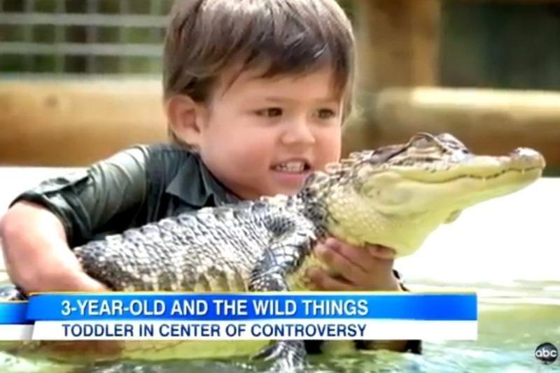 Jauniausias aligatorių tramdytojas – vos trejų australas Ch. Parkeris