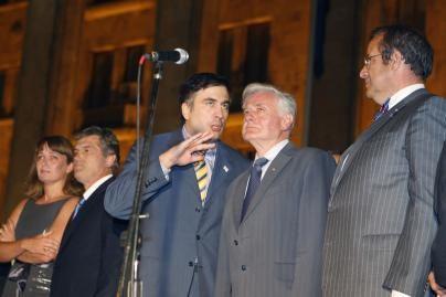 V.Adamkus susitiko su Gruzijos prezidentu