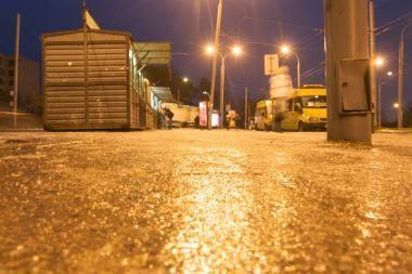 Kelių būklė: naktį ir rytą gali susidaryti plikledis