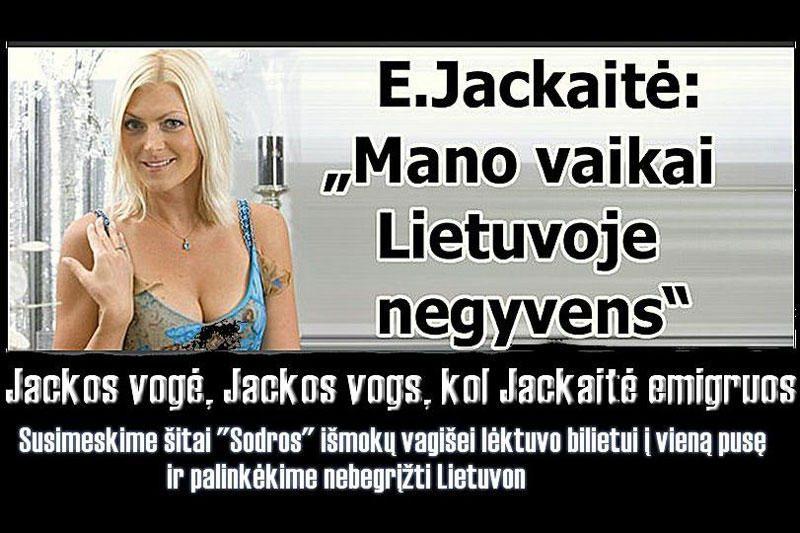 Internete išpliekta E.Jackaitė: jei nupirks bilietą, gal emigruosiu